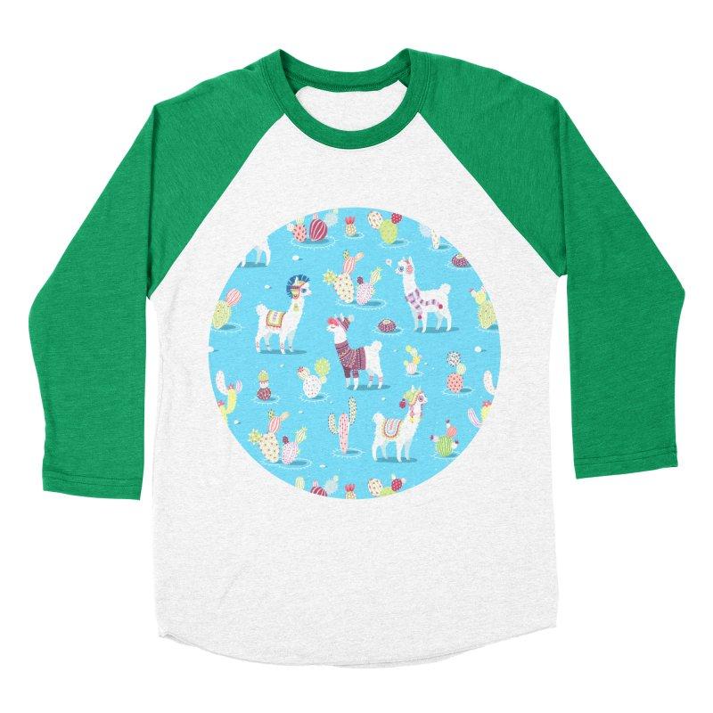 Alpaca Pattern Women's Baseball Triblend T-Shirt by Freeminds's Artist Shop