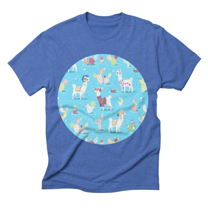 Alpaca Pattern Men's Triblend T-shirt by Freeminds's Artist Shop
