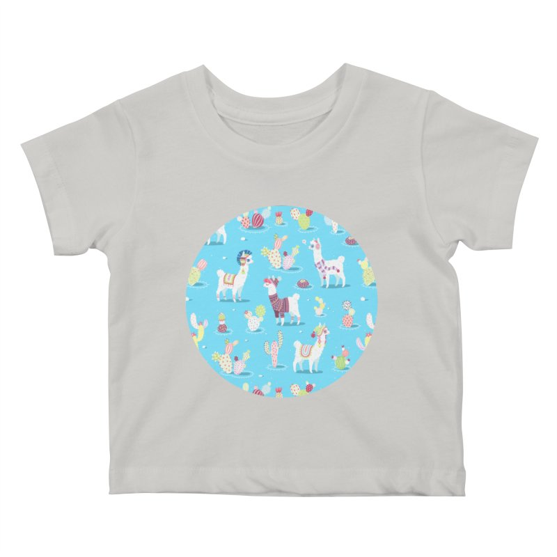 Alpaca Pattern Kids Baby T-Shirt by Freeminds's Artist Shop