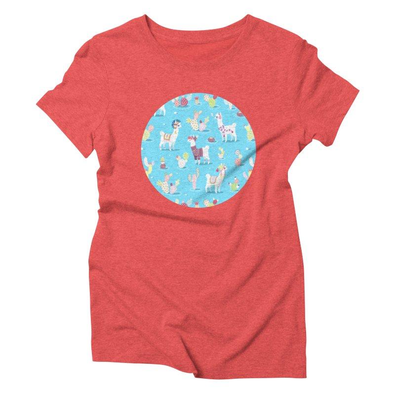 Alpaca Pattern Women's Triblend T-shirt by Freeminds's Artist Shop