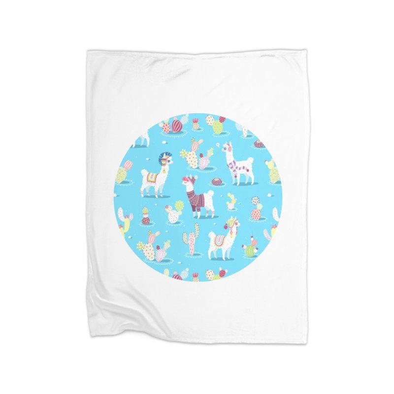 Alpaca Pattern Home Blanket by Freeminds's Artist Shop
