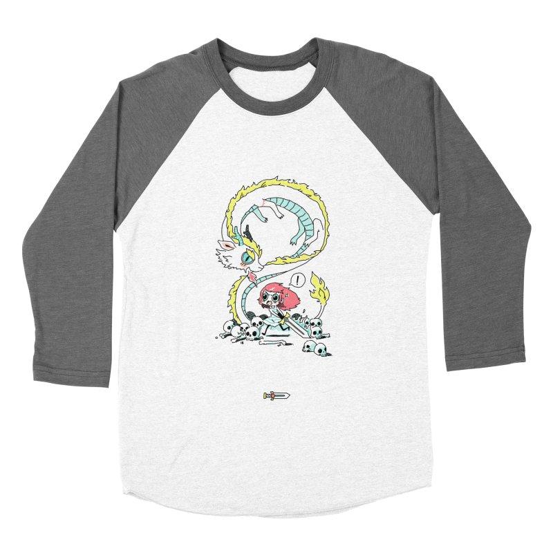Dragon Hunter Women's Baseball Triblend T-Shirt by Freeminds's Artist Shop