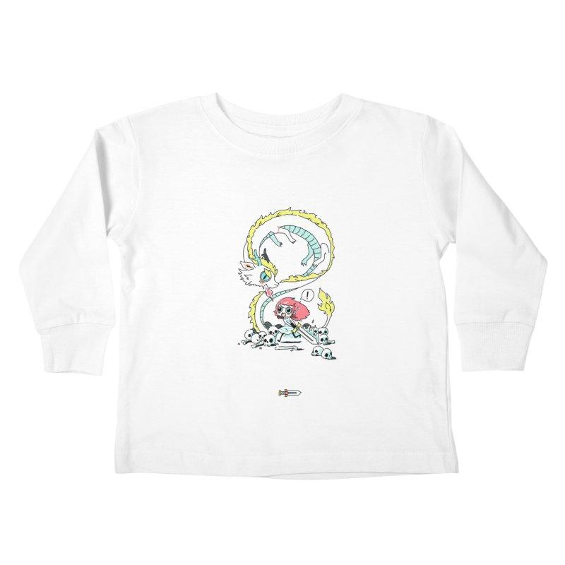 Dragon Hunter Kids Toddler Longsleeve T-Shirt by Freeminds's Artist Shop