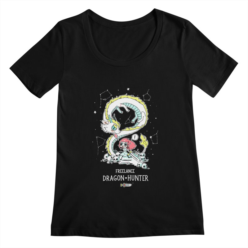 Dragon Hunter Women's Scoopneck by Freeminds's Artist Shop