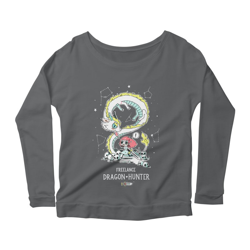 Dragon Hunter Women's Longsleeve Scoopneck  by Freeminds's Artist Shop