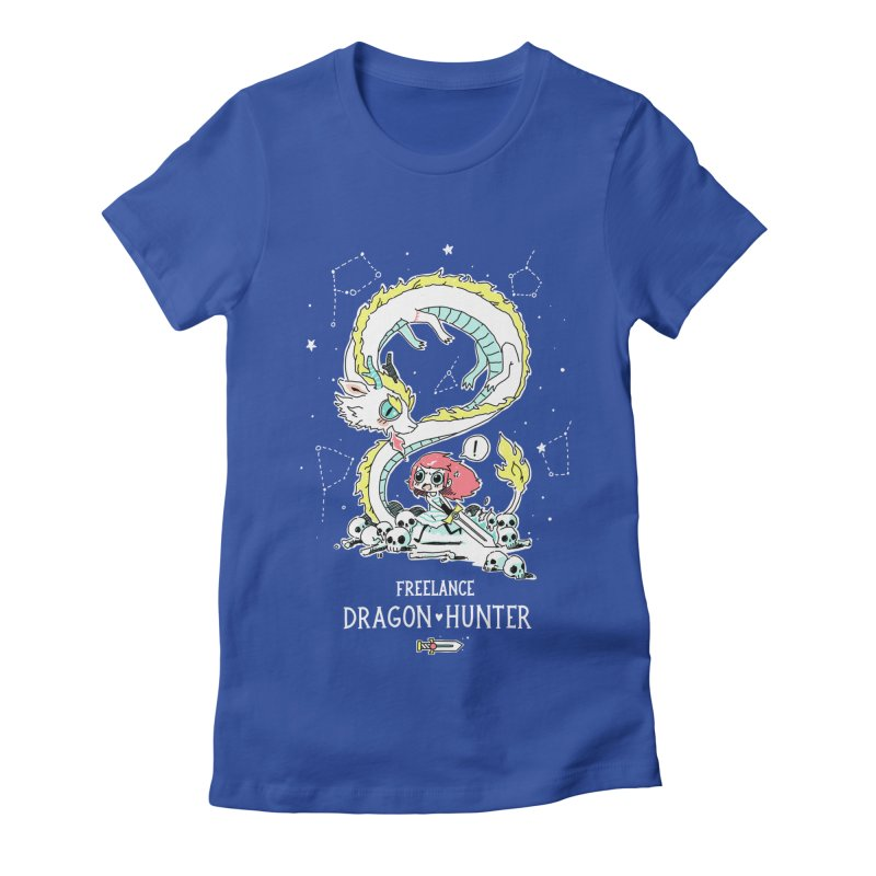 Dragon Hunter Women's Fitted T-Shirt by Freeminds's Artist Shop