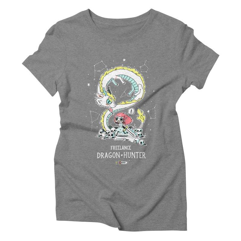 Dragon Hunter Women's Triblend T-shirt by Freeminds's Artist Shop