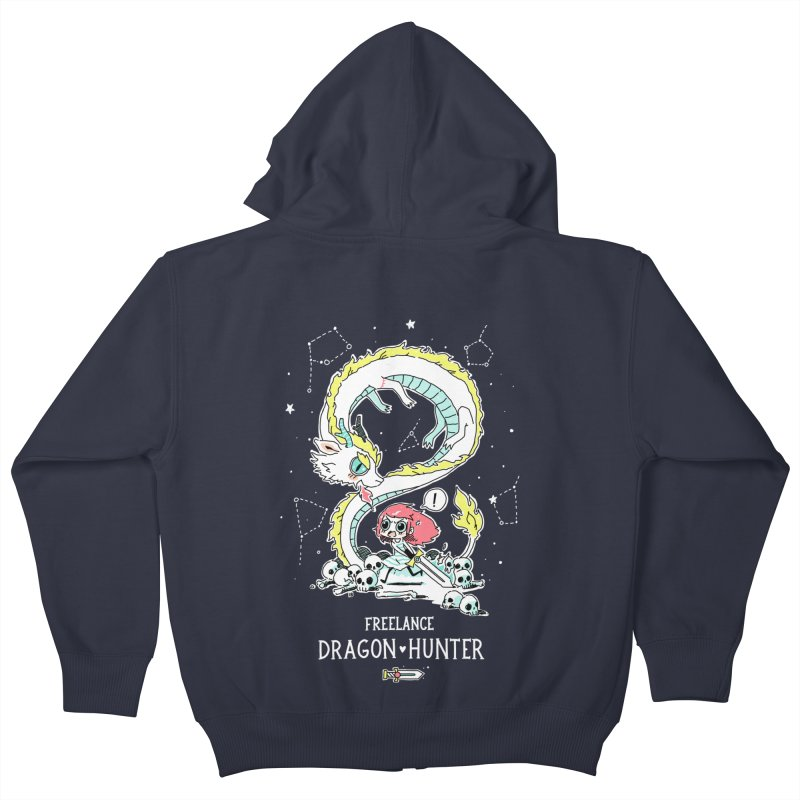 Dragon Hunter Kids Zip-Up Hoody by Freeminds's Artist Shop
