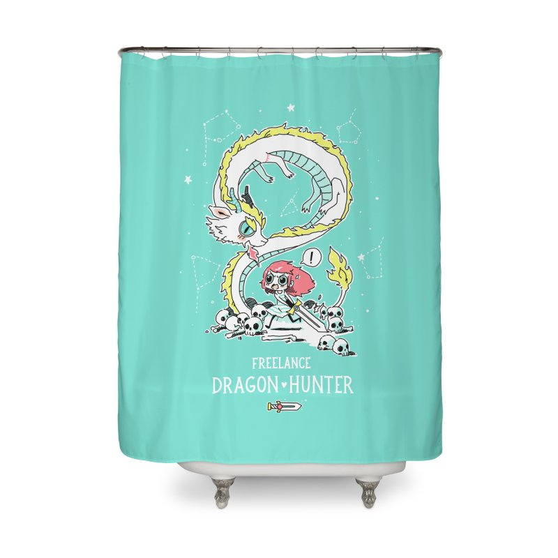 Dragon Hunter Home Shower Curtain by Freeminds's Artist Shop