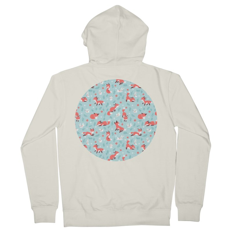 Fox and Bunny Pattern Men's Zip-Up Hoody by Freeminds's Artist Shop