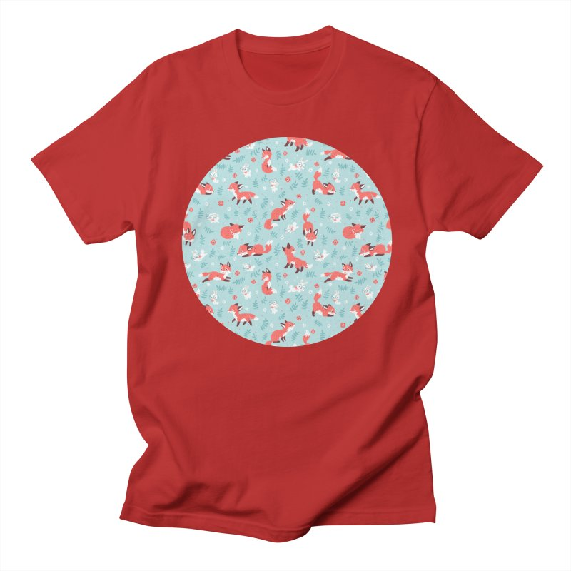 Fox and Bunny Pattern Men's T-shirt by Freeminds's Artist Shop