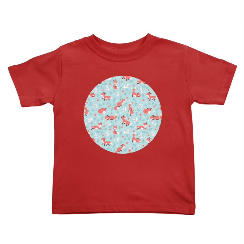 Fox and Bunny Pattern Kids Toddler T-Shirt by Freeminds's Artist Shop