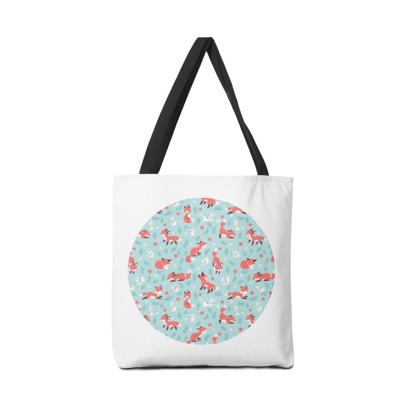 Fox and Bunny Pattern Accessories Bag by Freeminds's Artist Shop