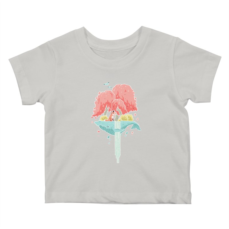 Whale Island Kids Baby T-Shirt by Freeminds's Artist Shop