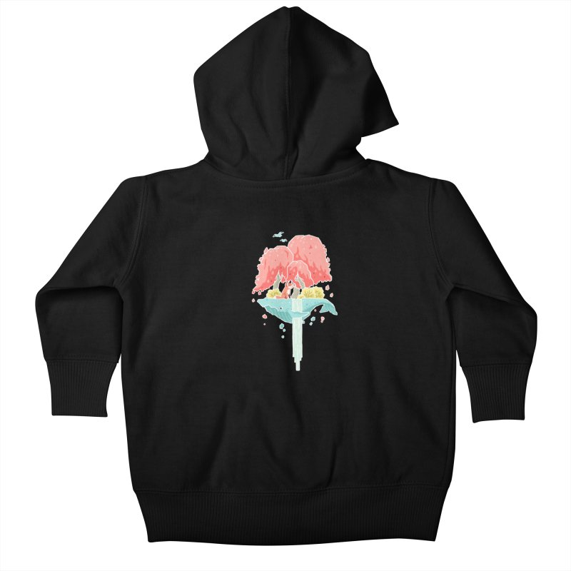 Whale Island Kids Baby Zip-Up Hoody by Freeminds's Artist Shop