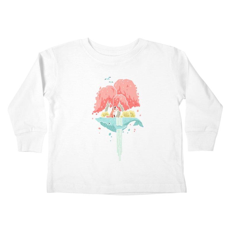 Whale Island Kids Toddler Longsleeve T-Shirt by Freeminds's Artist Shop