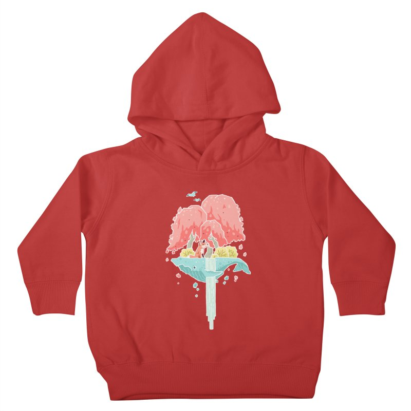 Whale Island Kids Toddler Pullover Hoody by Freeminds's Artist Shop