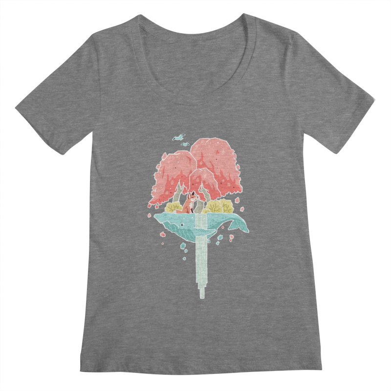Whale Island Women's Scoopneck by Freeminds's Artist Shop
