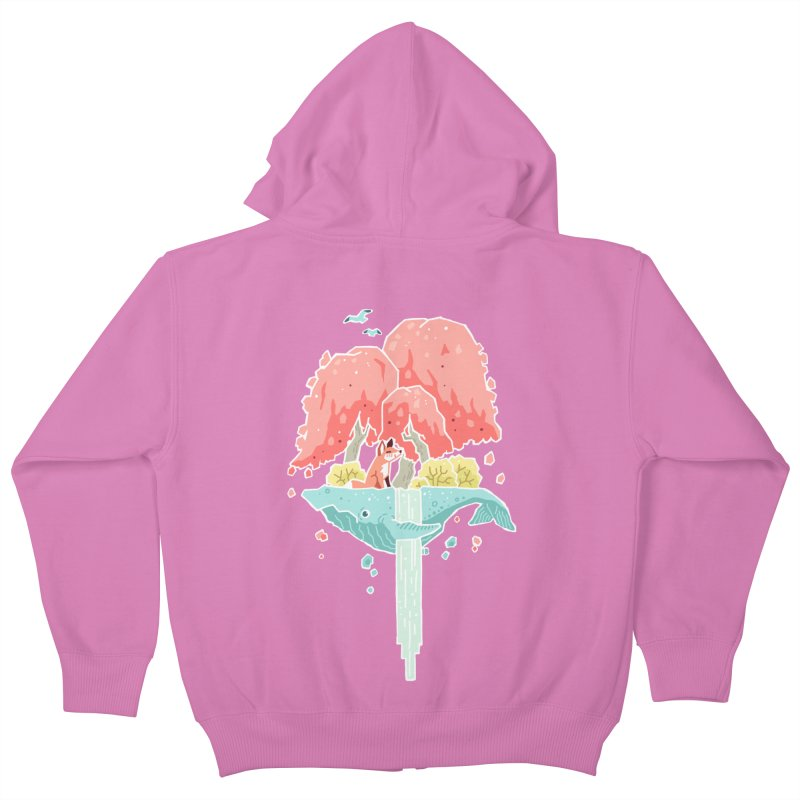 Whale Island Kids Zip-Up Hoody by Freeminds's Artist Shop