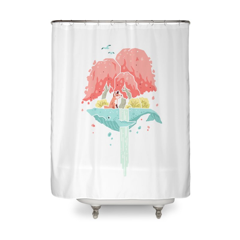 Whale Island Home Shower Curtain by Freeminds's Artist Shop