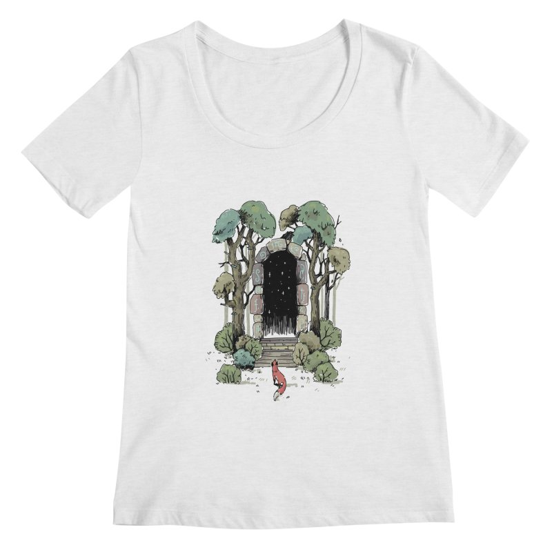 Forest Gate Women's Scoopneck by Freeminds's Artist Shop