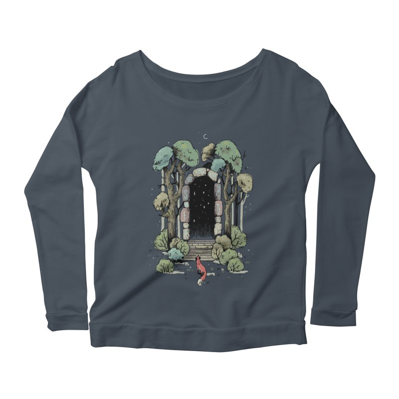 Forest Gate Women's Longsleeve Scoopneck  by Freeminds's Artist Shop