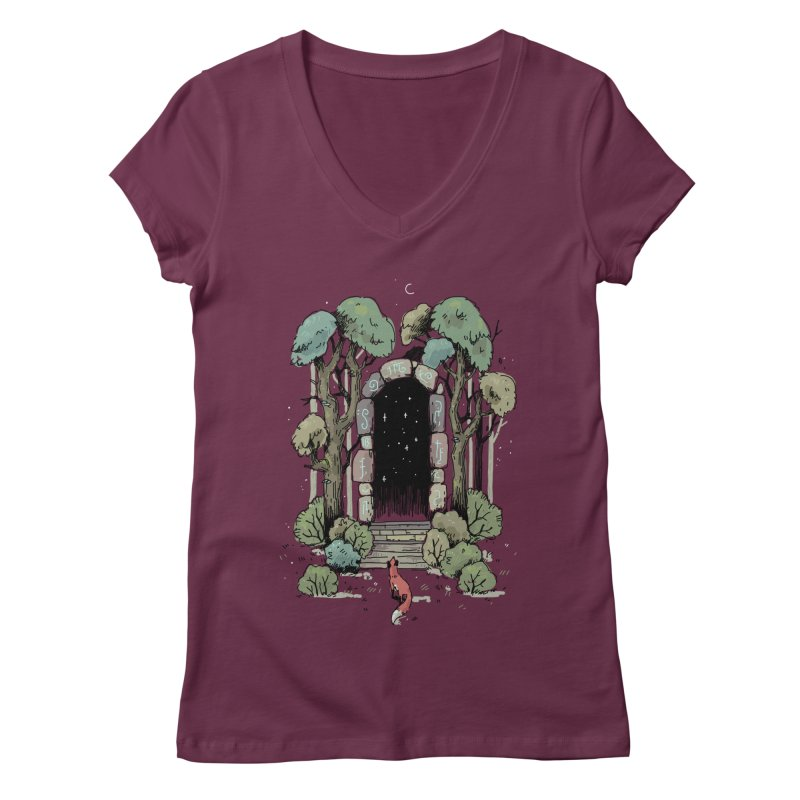 Forest Gate Women's V-Neck by Freeminds's Artist Shop
