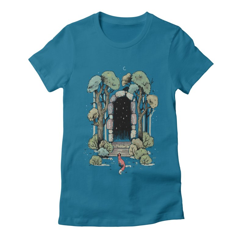 Forest Gate Women's Fitted T-Shirt by Freeminds's Artist Shop