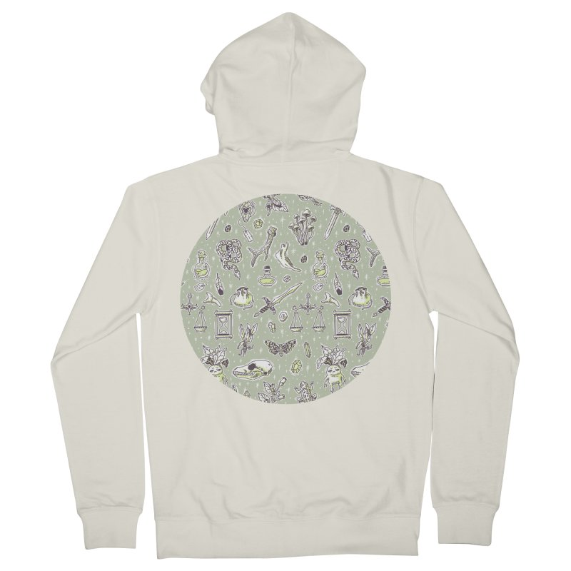 Witchcraft Pattern Men's Zip-Up Hoody by Freeminds's Artist Shop