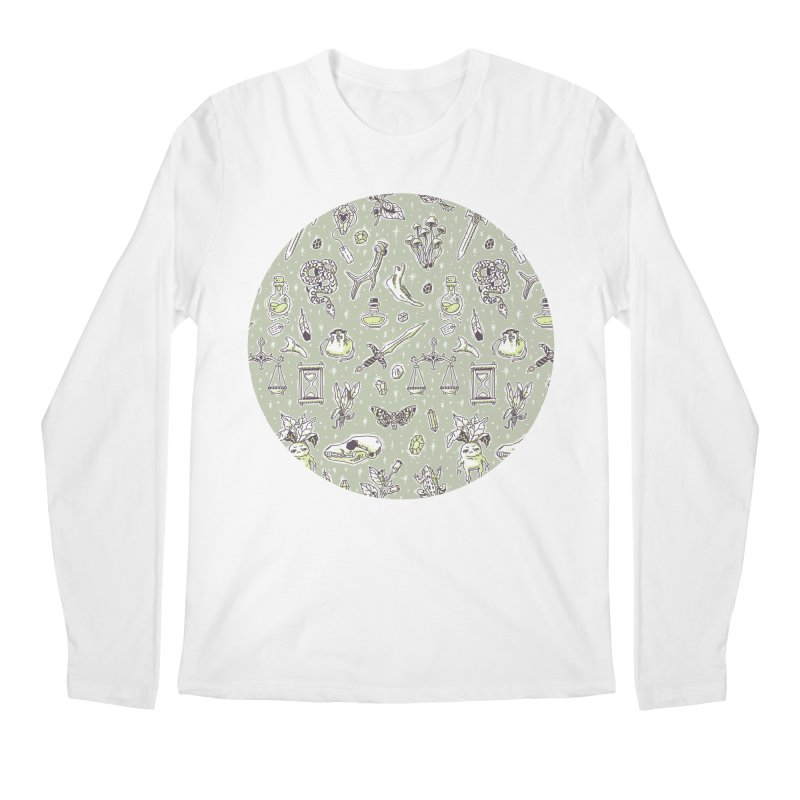 Witchcraft Pattern Men's Longsleeve T-Shirt by Freeminds's Artist Shop