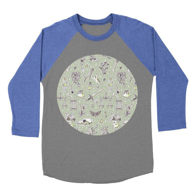 Witchcraft Pattern Women's Baseball Triblend T-Shirt by Freeminds's Artist Shop