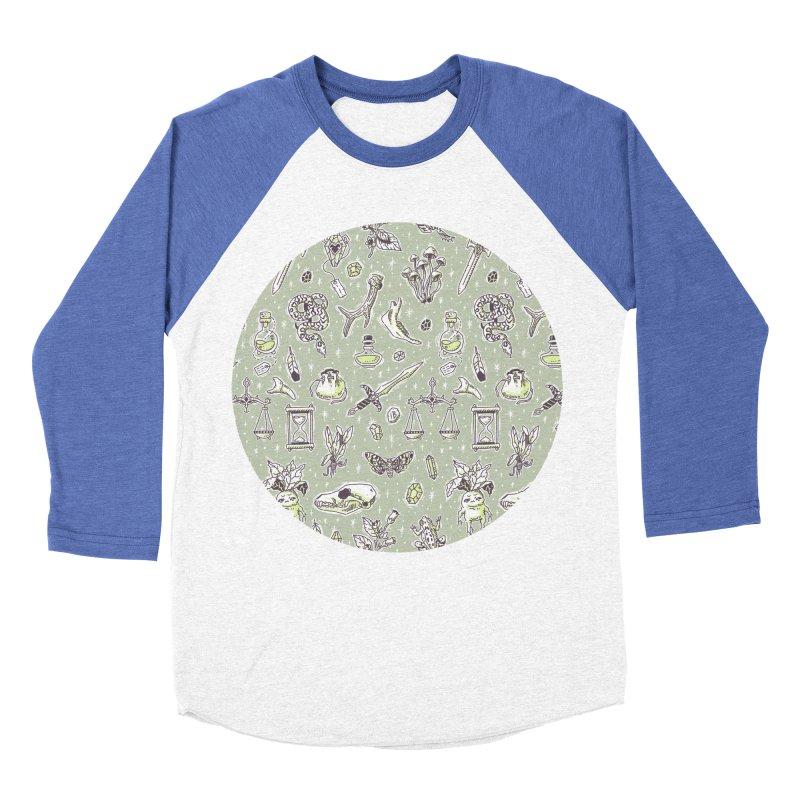 Witchcraft Pattern Men's Baseball Triblend T-Shirt by Freeminds's Artist Shop