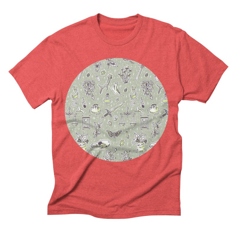 Witchcraft Pattern Men's Triblend T-shirt by Freeminds's Artist Shop