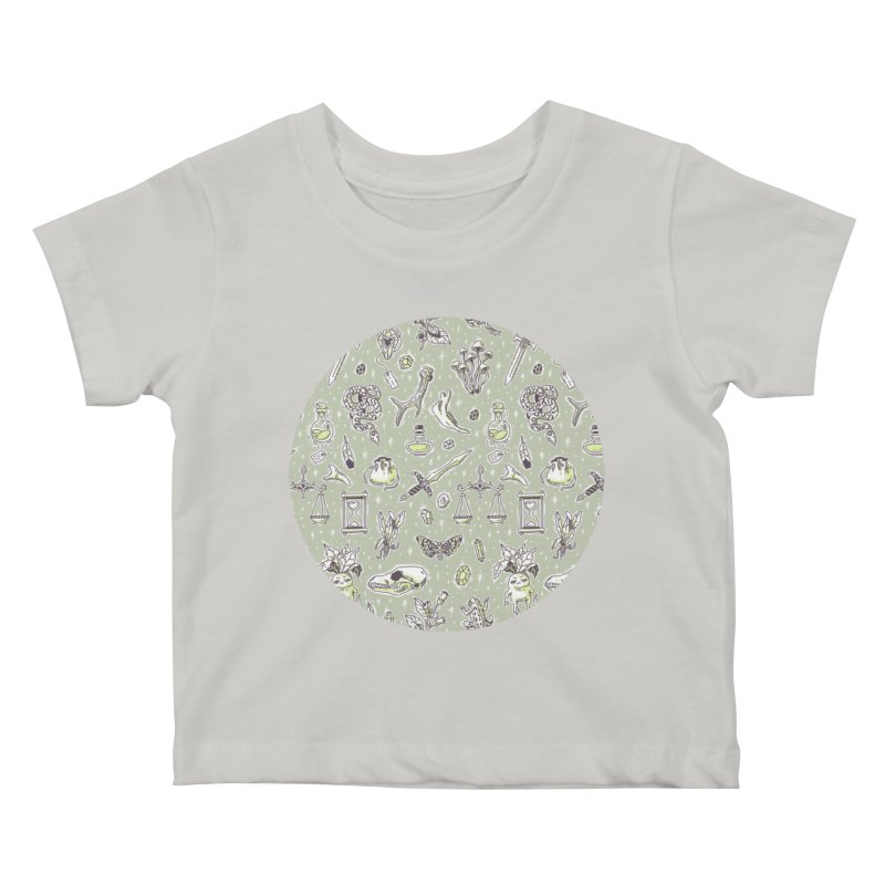 Witchcraft Pattern Kids Baby T-Shirt by Freeminds's Artist Shop