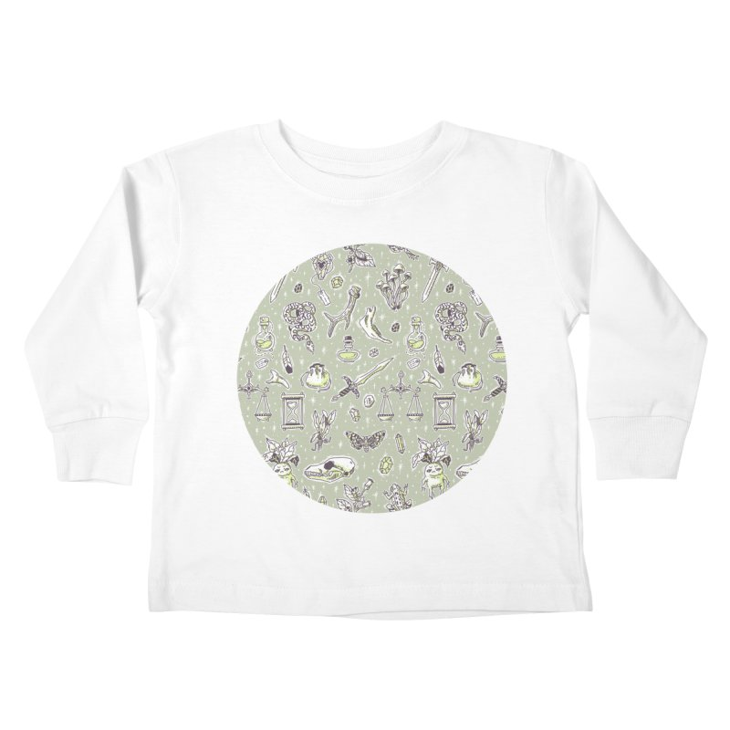 Witchcraft Pattern Kids Toddler Longsleeve T-Shirt by Freeminds's Artist Shop