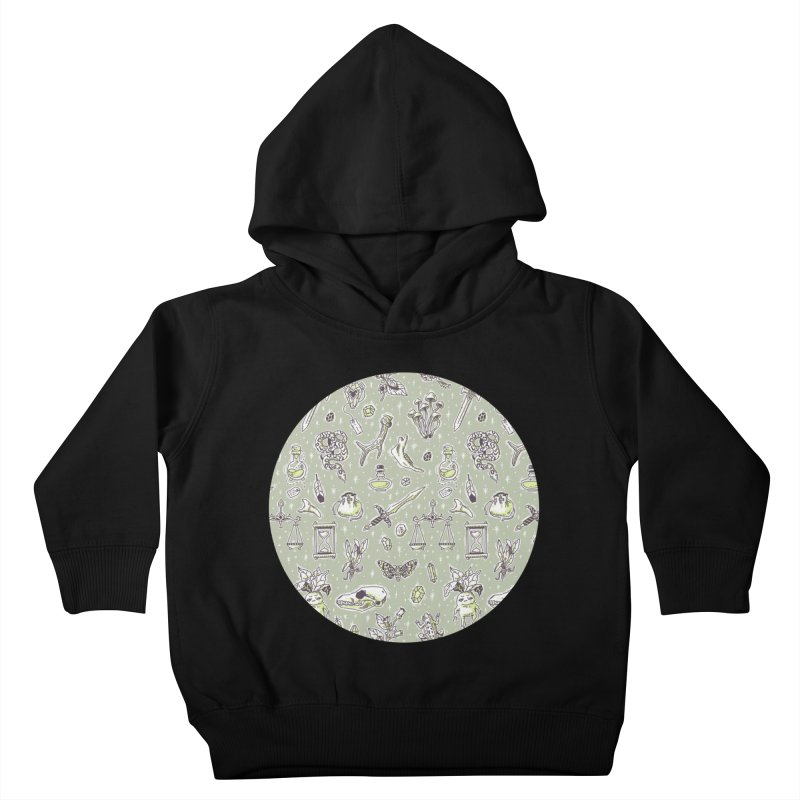 Witchcraft Pattern Kids Toddler Pullover Hoody by Freeminds's Artist Shop