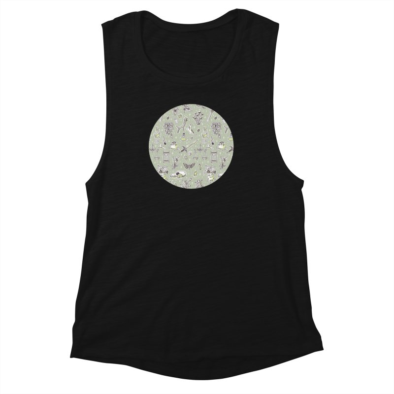 Witchcraft Pattern Women's Muscle Tank by Freeminds's Artist Shop