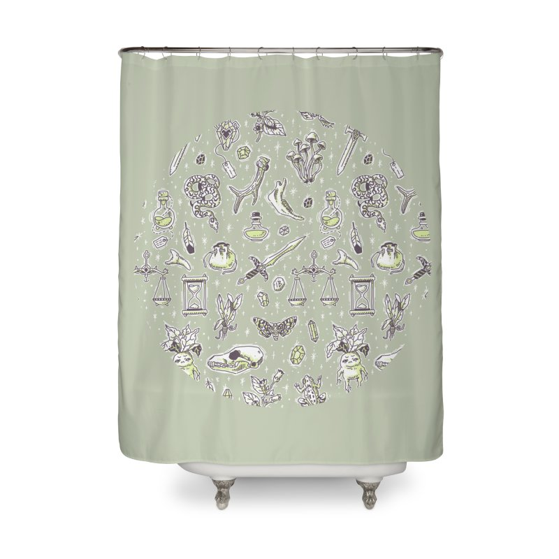 Witchcraft Pattern Home Shower Curtain by Freeminds's Artist Shop
