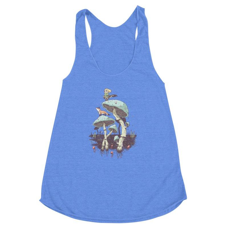 Elven Ranger Women's Racerback Triblend Tank by Freeminds's Artist Shop