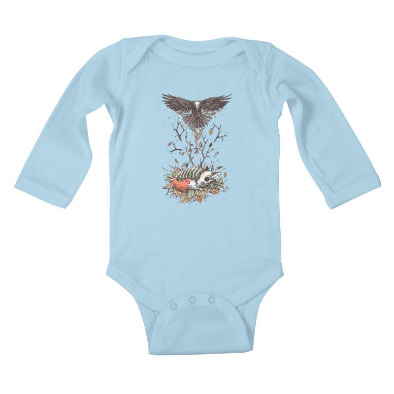 Eternal Sleep Kids Baby Longsleeve Bodysuit by Freeminds's Artist Shop