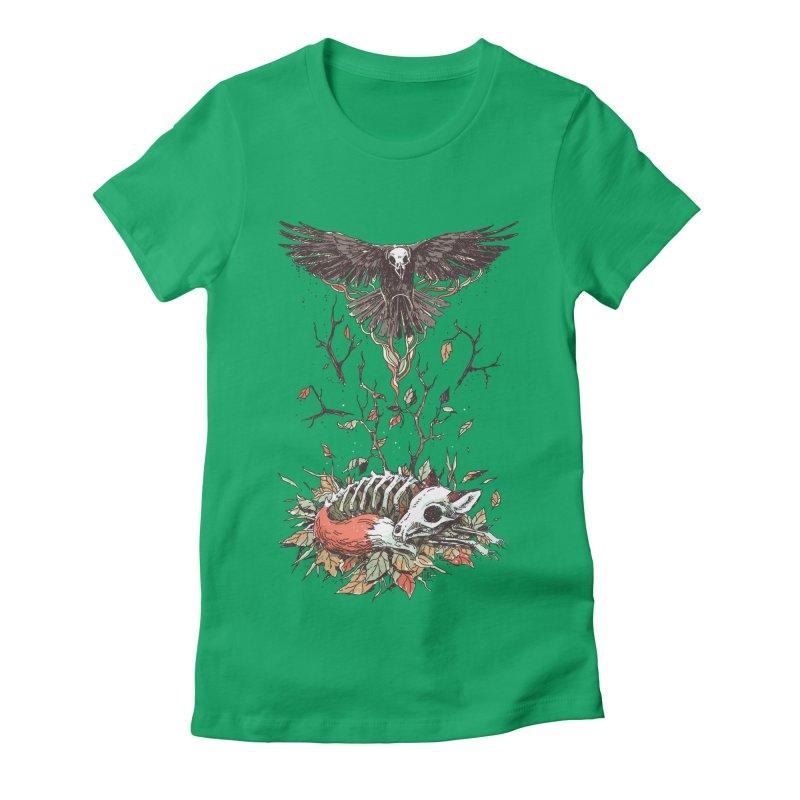Eternal Sleep Women's Fitted T-Shirt by Freeminds's Artist Shop