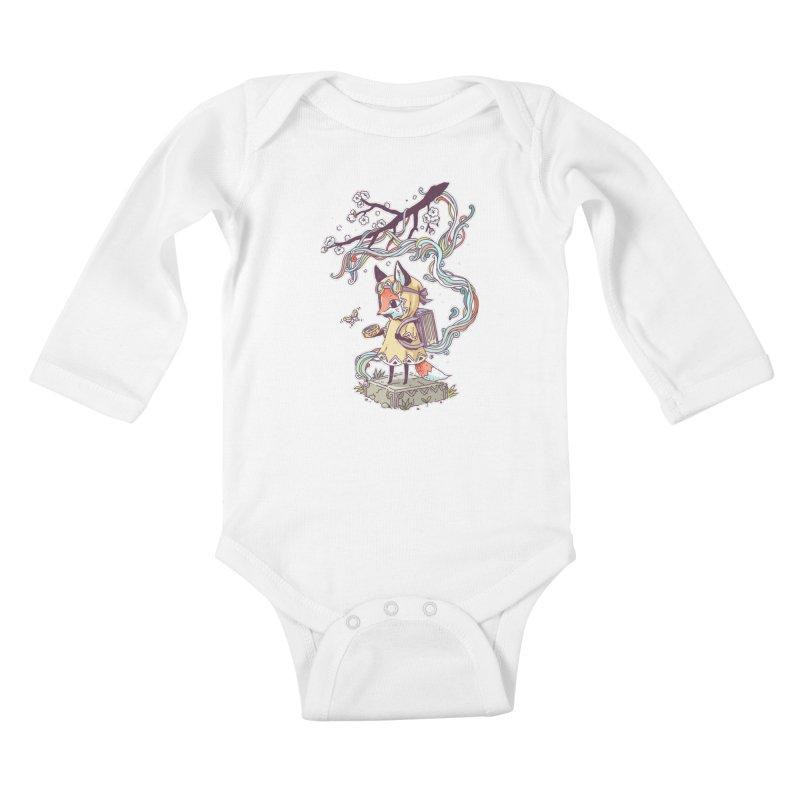 Little Explorer Kids Baby Longsleeve Bodysuit by Freeminds's Artist Shop