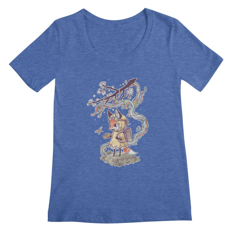 Little Explorer Women's Scoopneck by Freeminds's Artist Shop