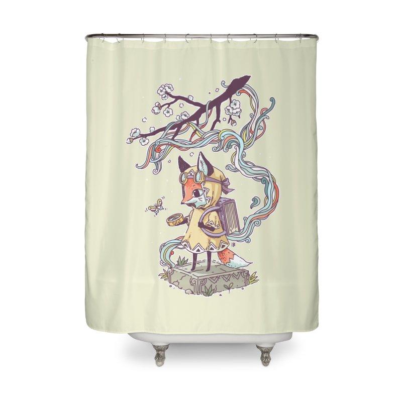 Little Explorer Home Shower Curtain by Freeminds's Artist Shop