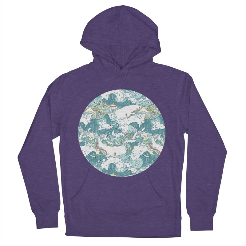 Whales and Waves Pattern Men's Pullover Hoody by Freeminds