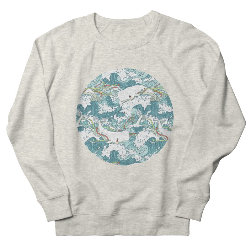 Whales and Waves Pattern Women's Sweatshirt by Freeminds