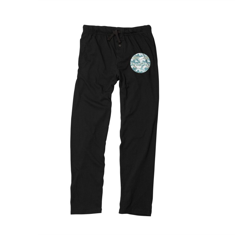 Whales and Waves Pattern Women's Lounge Pants by Freeminds