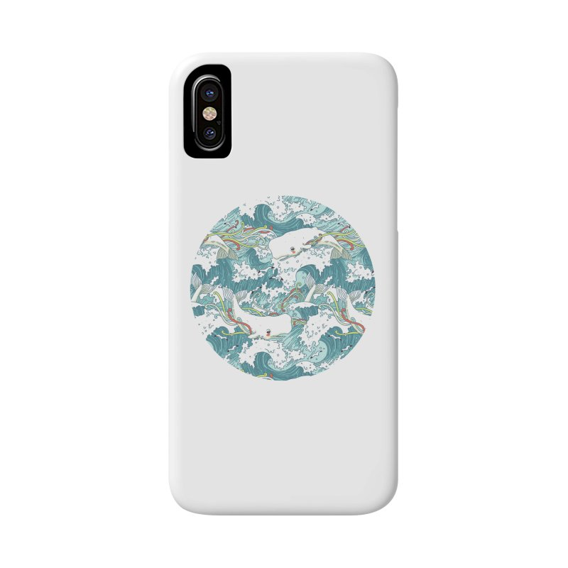 Whales and Waves Pattern Accessories Phone Case by Freeminds