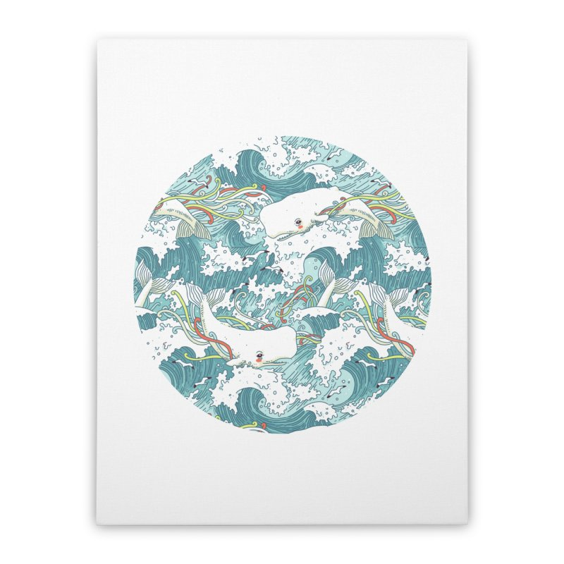 Whales and Waves Pattern   by Freeminds's Artist Shop