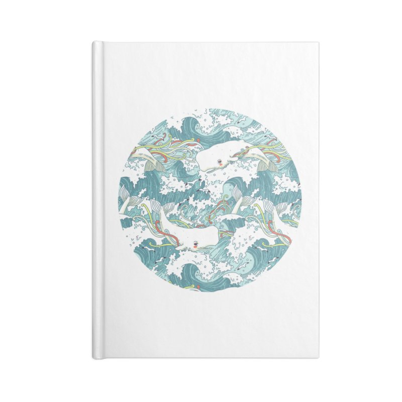 Whales and Waves Pattern Accessories Notebook by Freeminds